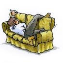 Pappa i soffan